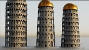 Roman Towers 3d model