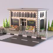 Fruit Shop 01 3d model