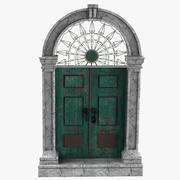 Green Door 3d model
