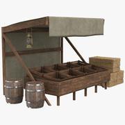 Tom Market Stall 3d model