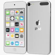 Apple iPod Touch (2019) srebrny 3d model