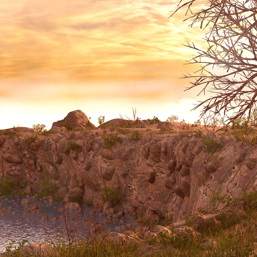 LightHouse Hill Environment royalty-free 3d model - Preview no. 11