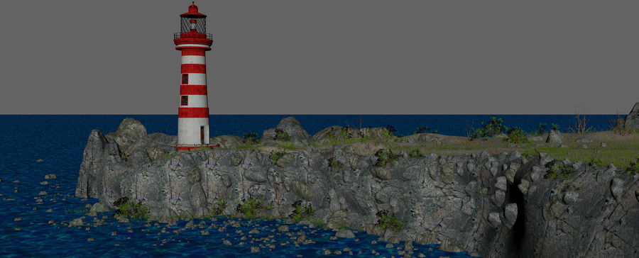 LightHouse Hill Environment royalty-free 3d model - Preview no. 14