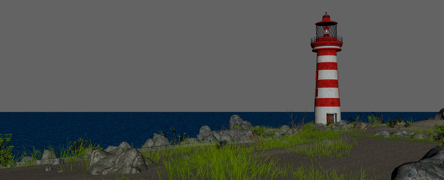 LightHouse Hill Environment royalty-free 3d model - Preview no. 16