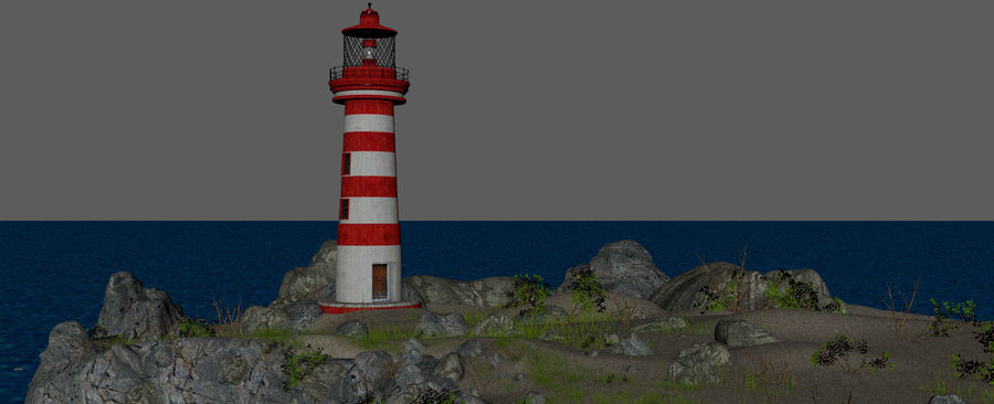 LightHouse Hill Environment royalty-free 3d model - Preview no. 18