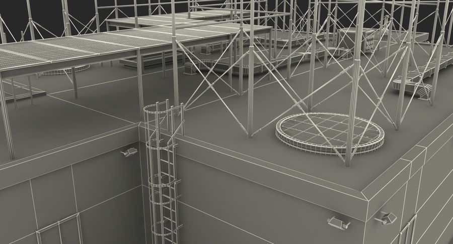 Rooftop Radio Transmitters royalty-free 3d model - Preview no. 1
