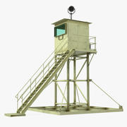 Militär vakt Tower 3D-modell 3d model