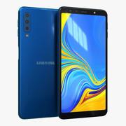 Samsung Galaxy A7 (2018) Blå 3d model