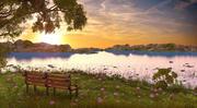 Coucher de soleil paysage 3d model