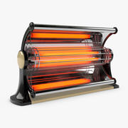 Electric Heater - Vintage 3d model