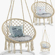 Ohuhu Hanging Hammock Swing Chair 3d model