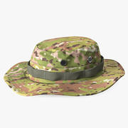 US Army Boonie Camo Hat 3d model