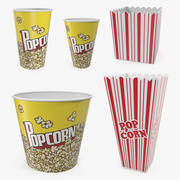 Empty Popcorn Containers 3D Models Collection 3d model