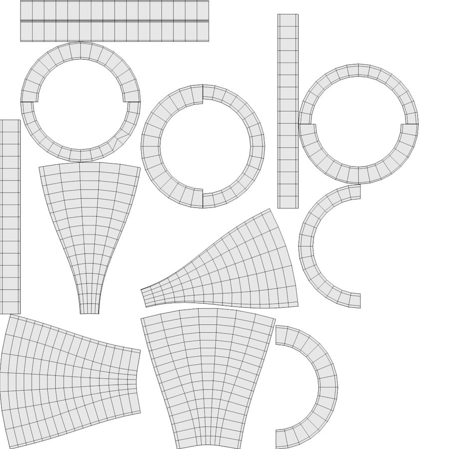 スチームパンクなテーブルランプ royalty-free 3d model - Preview no. 19