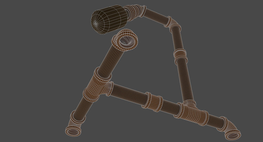 Steampunk Tischlampe royalty-free 3d model - Preview no. 12