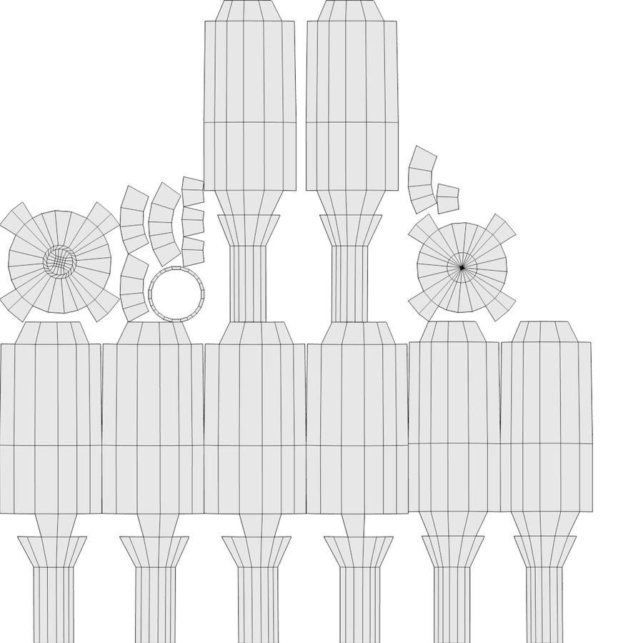スチームパンクなテーブルランプ royalty-free 3d model - Preview no. 17