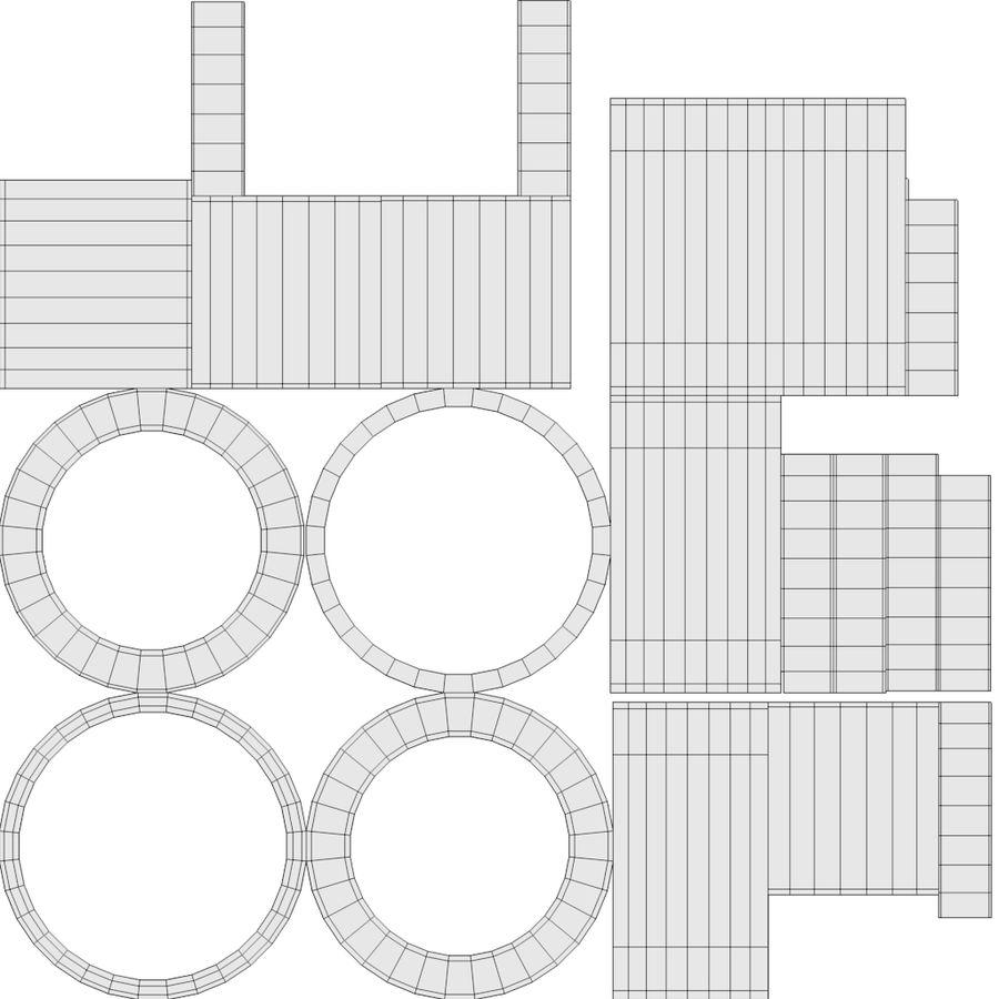 スチームパンクなテーブルランプ royalty-free 3d model - Preview no. 22