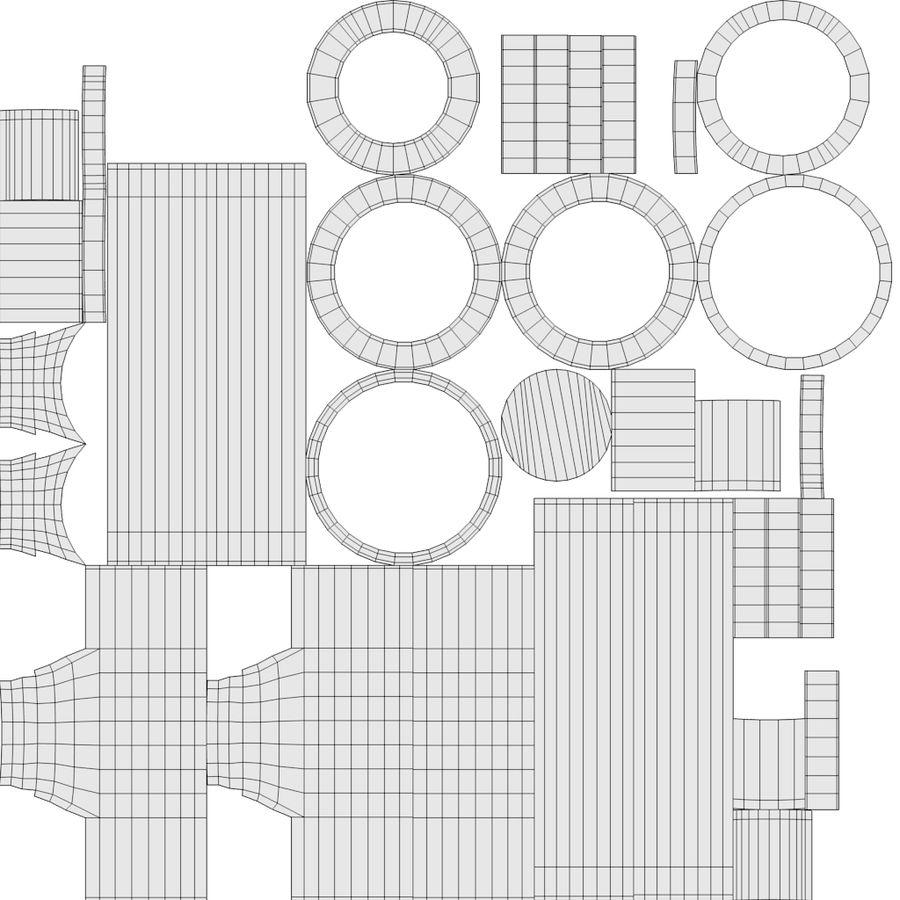 スチームパンクなテーブルランプ royalty-free 3d model - Preview no. 14