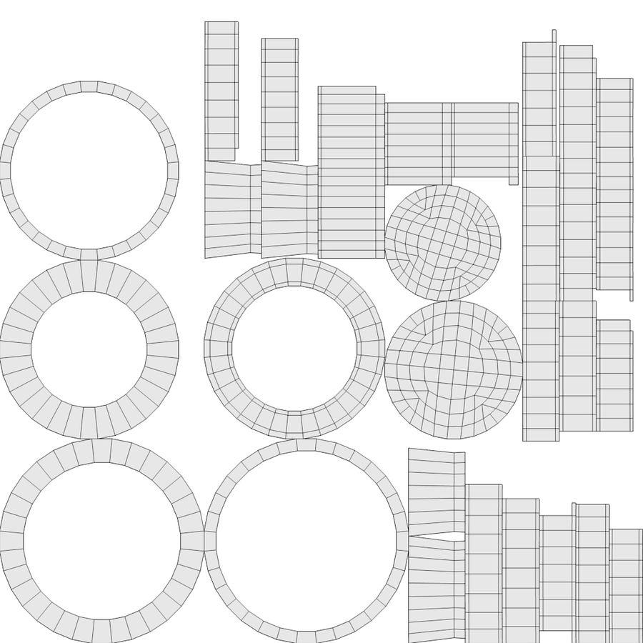 Steampunk Masa Lambası royalty-free 3d model - Preview no. 18