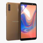 Samsung Galaxy A7 (2018) Guld 3d model