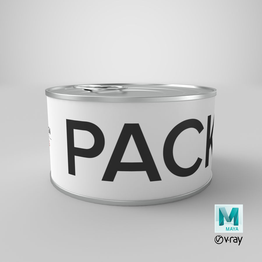 Food Can 200g royalty-free 3d model - Preview no. 39