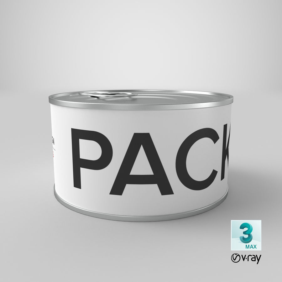 Food Can 200g royalty-free 3d model - Preview no. 37