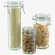 Kitchen Pasta Jars 3d model