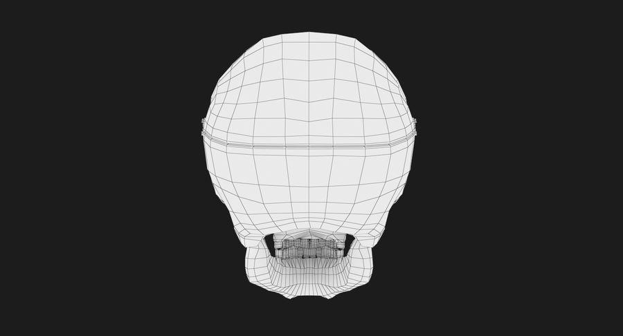 Modèle anatomique de crâne royalty-free 3d model - Preview no. 14