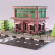 比萨店01 3d model