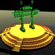 Chinese gate 3d model