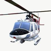 HELICOPTER LAFD 02 3d model