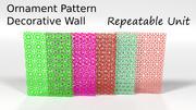 Sieraad Decoratief Patroon Collecties Pack 3d model