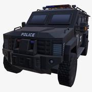 ARABA ZIRHLI SİYAH POLİS 3d model