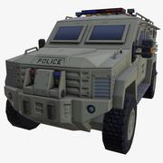 CAR ARMORED DUST POLICE 3d model