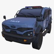 SWAT BLU BLU ARMATO 3d model