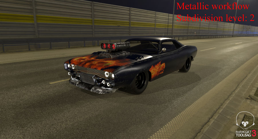 Muscle Car Dragster royalty-free 3d model - Preview no. 42