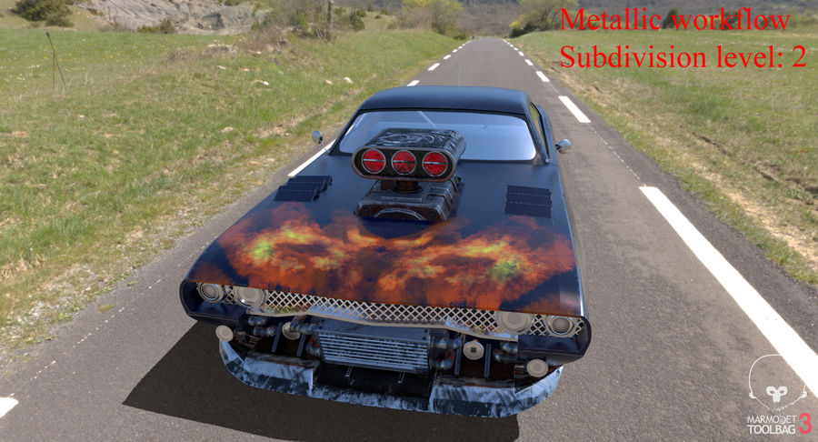 Muscle Car Dragster royalty-free 3d model - Preview no. 37