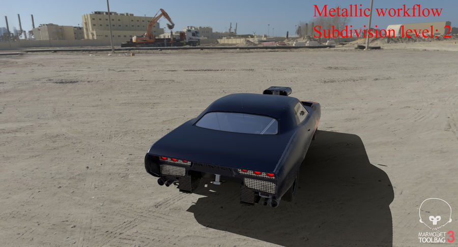 Muscle Car Dragster royalty-free 3d model - Preview no. 45