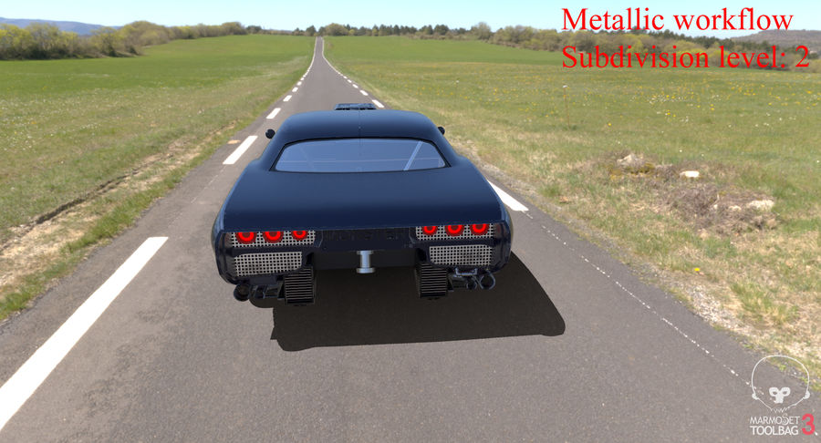 Muscle Car Dragster royalty-free 3d model - Preview no. 38