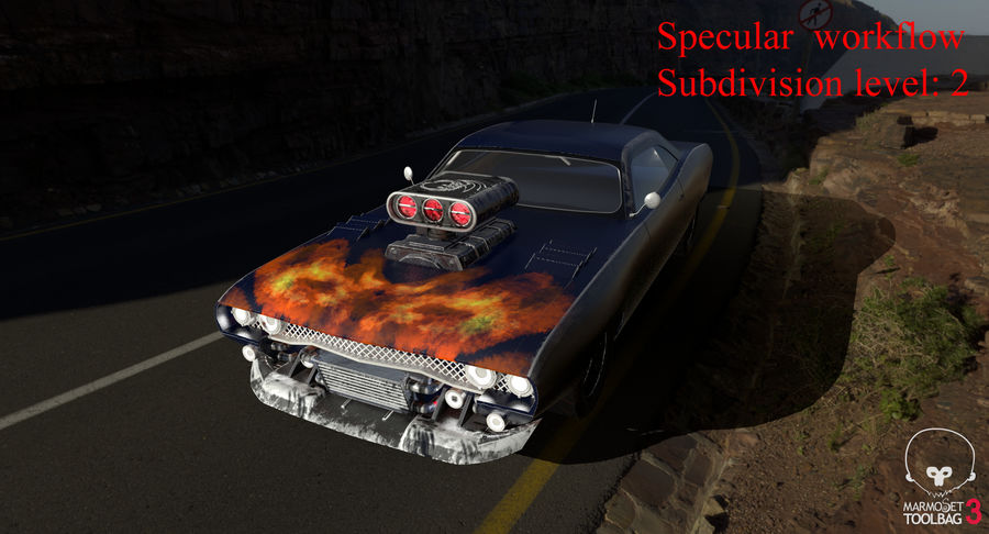 Muscle Car Dragster royalty-free 3d model - Preview no. 55