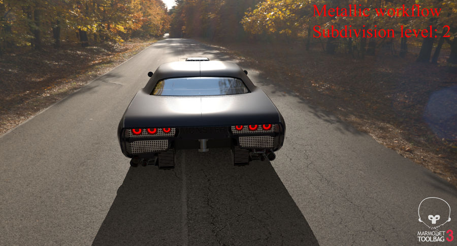 Muscle Car Dragster royalty-free 3d model - Preview no. 39