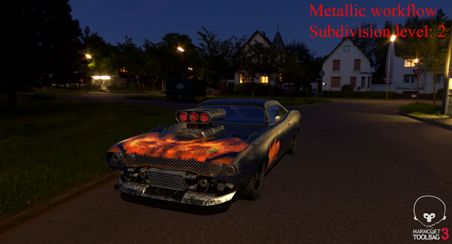 Muscle Car Dragster royalty-free 3d model - Preview no. 49