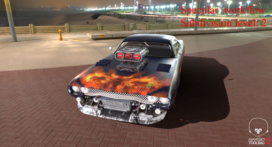 Muscle Car Dragster royalty-free 3d model - Preview no. 54