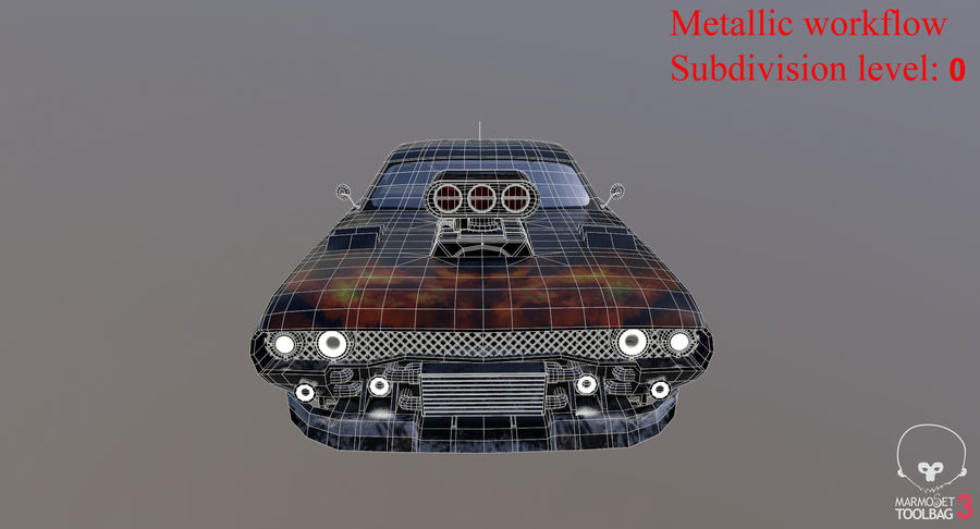 Muscle Car Dragster royalty-free 3d model - Preview no. 33