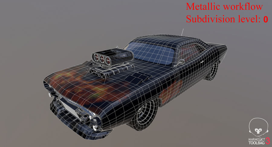 Muscle Car Dragster royalty-free 3d model - Preview no. 32