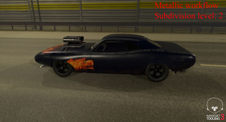 Muscle Car Dragster royalty-free 3d model - Preview no. 41