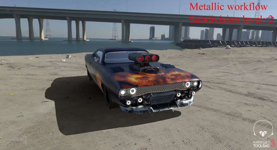 Muscle Car Dragster royalty-free 3d model - Preview no. 44