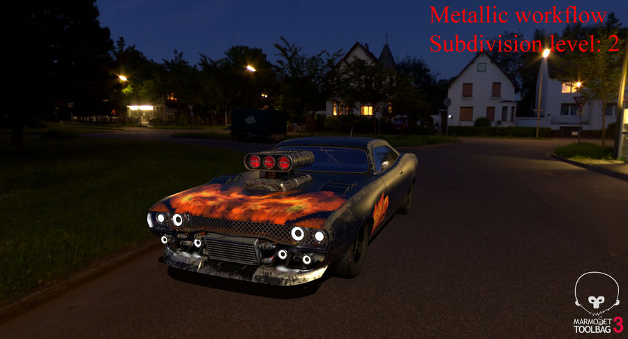 Muscle Car Dragster royalty-free 3d model - Preview no. 48