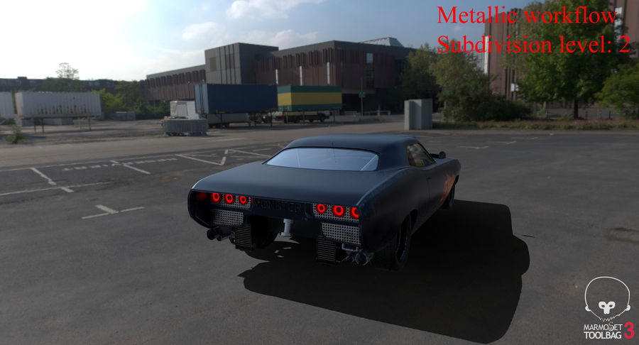Muscle Car Dragster royalty-free 3d model - Preview no. 46