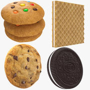Four Cookies Collection 3d model